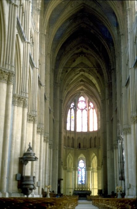 'Reims Cathedral: interior, view east from nave showing choir and apse', ca. 1211-1290
