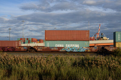 Joan Lemler, 'Containers and Ship', 2015