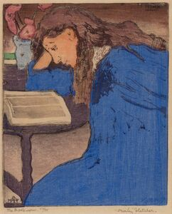 Frank Morley Fletcher, 'THE BOOKWORM: THE BLUE GIRL', 1904
