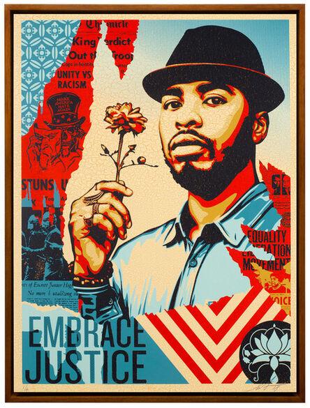 Shepard Fairey, 'Embrace Justice ', 2018