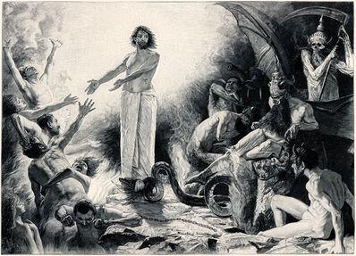 Sascha Schneider, 'Christus In Der Hölle', 1894-1895