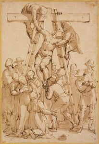 Luca Cambiaso, 'Descent from the Cross', ca. 1570