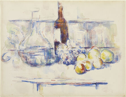 Paul Cézanne, 'Still Life with Carafe, Bottle, and Fruit', 1906