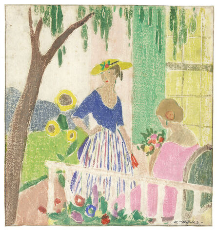Ethel Mars, 'In the Garden', 1916