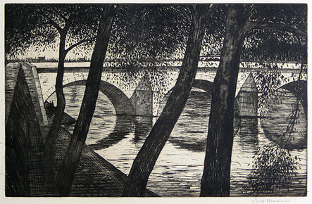 Christopher Richard Wynne Nevinson, 'Pont Royal', 1922