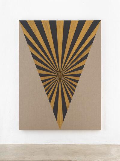 Elisabeth Frieberg, 'Muff, Black, Gold, Center, Beam', 2018
