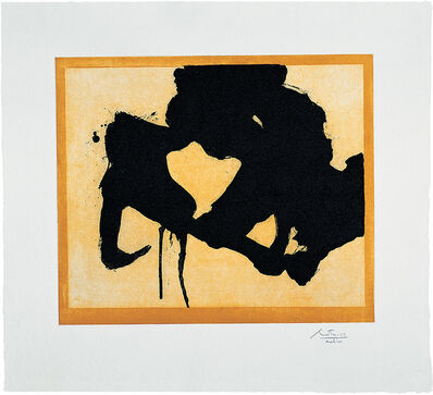 Robert Motherwell, 'At the Edge', 1984