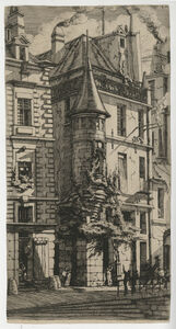 Charles Meryon, 'Tourelle, rue de la Tixéranderie', 1852