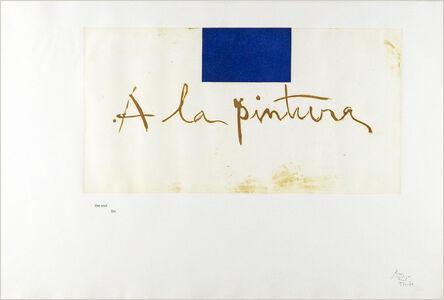 "Robert Motherwell, 'Frontispiece from"" A la Pintura""', 1972"