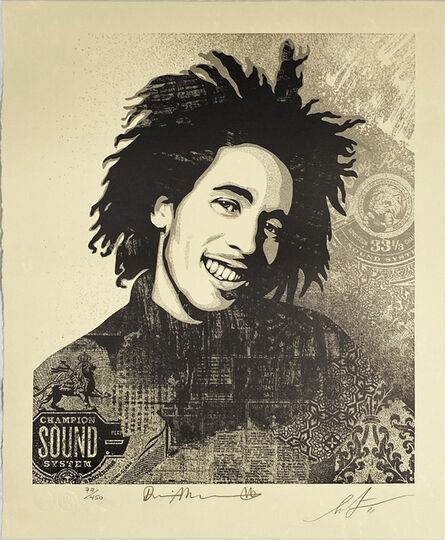 Shepard Fairey, ''Bob Marley 40th: Lively Up Yourself'', 2021