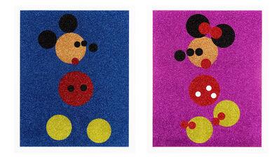 Damien Hirst, 'Mickey (Blue Glitter) + Minnie (Pink Glitter)', 2016