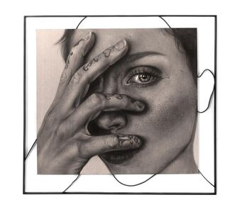 Kit King, 'Portrait of The Artist with Steel Framework', 2020