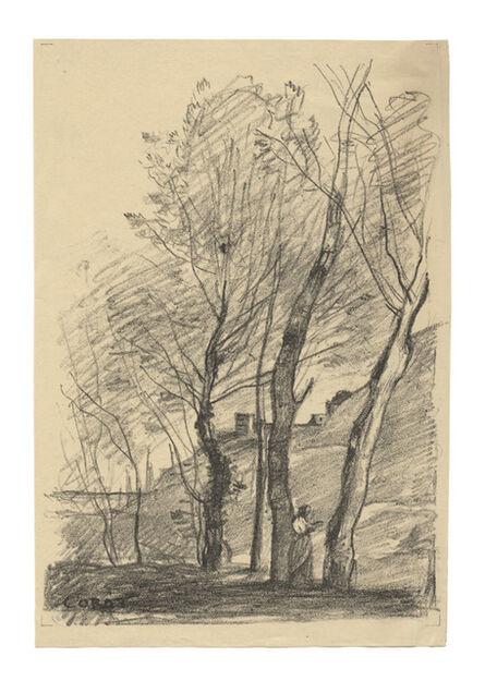 Jean-Baptiste-Camille Corot, 'La lecture sous les arbres', 1874
