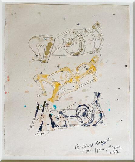 Henry Moore, 'Three Reclining Figures', 1962