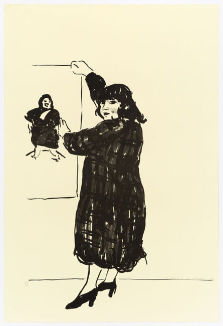 David Hockney, 'Ann Looking At Her Picture', 1980
