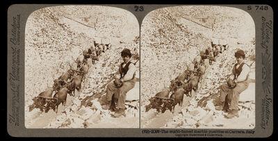 Bert Underwood, 'World-famed marble quarries at Carrara', 1900