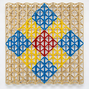 Rasheed Araeen, 'Red Square Breaking into Primary Colors', 2015