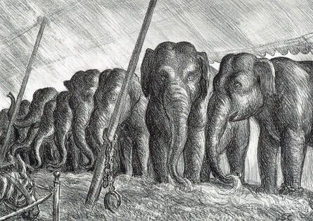 John Steuart Curry, 'Elephants', 1936