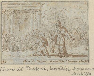 Johann Wilhelm Baur, 'Chorus of Shepherds and Priests: Montano, Mirtillo', 1640