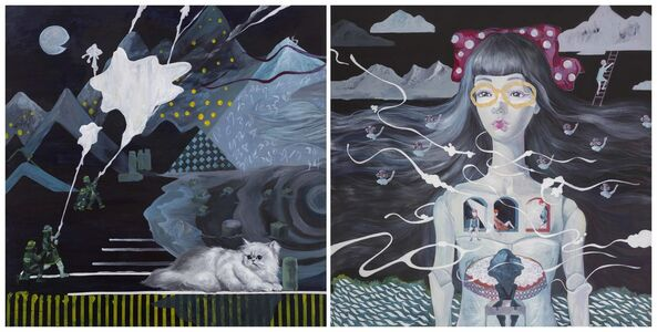 Chen I-Chun, 'Outside Is the Busy Scene - Today Has the Beautiful Moon/ Have the Ability to Flee - Keep an Elegant Escape', 2012