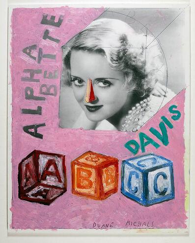 Duane Michals, 'Alpha Bette Davis', 2019