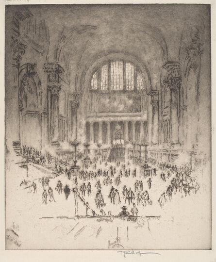 Joseph Pennell, 'The Marble Hall, Pennsylvania Station, New York', 1919