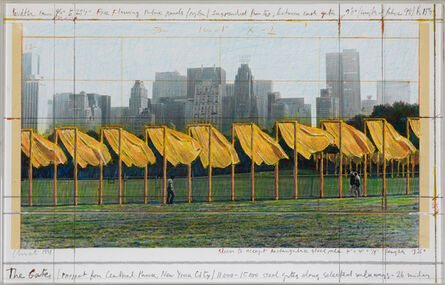 Christo, 'The Gates, Project for Central Park, New York City', 1998