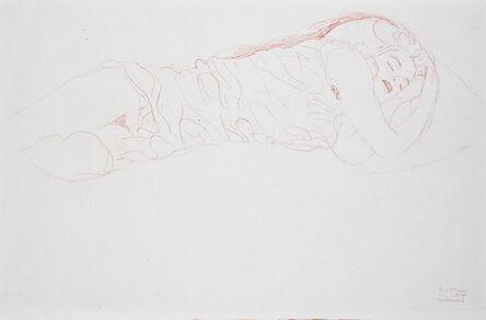 Gustav Klimt, 'Reclining Nude [Fünfundzwanzig Handzeichnungen]', 1919