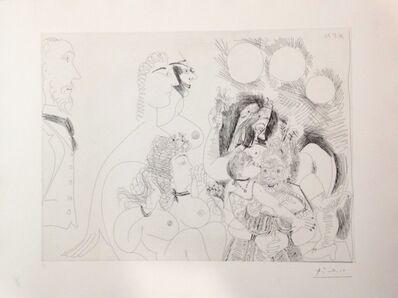 """Pablo Picasso, 'Serie 156 nº128 """"La fête de la patrone, fleurs et baisers, degas s'amuse""""', 1971"""