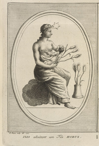 Bernard Picart, 'Isis Nursing Her Son, Horus', 1723-1743