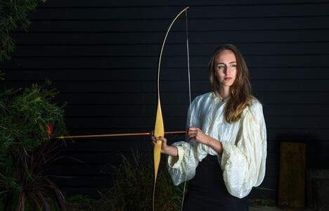Claire Lambe (British), 'Untitled (Emily with archery bow)', 2017