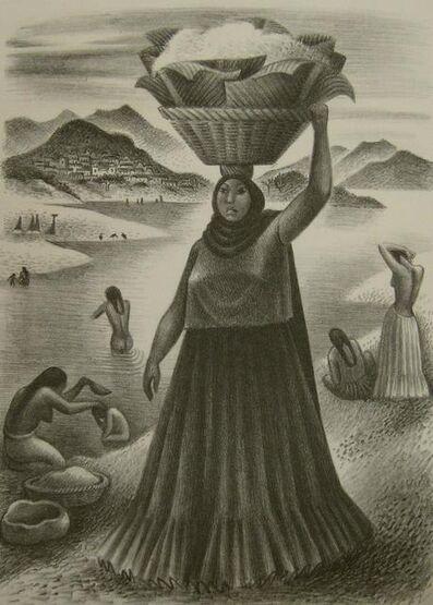 Miguel Covarrubias, 'Tehuantepec River', 1951