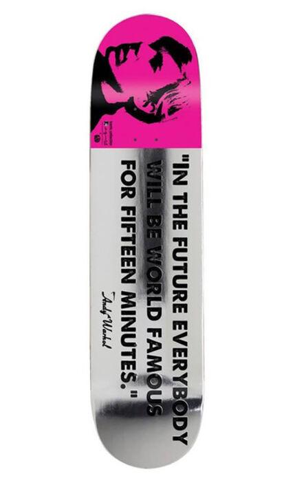 Andy Warhol, 'Warhol 15 Minutes of Fame skateboard deck (Andy Warhol skateboard deck) ', ca. 2012