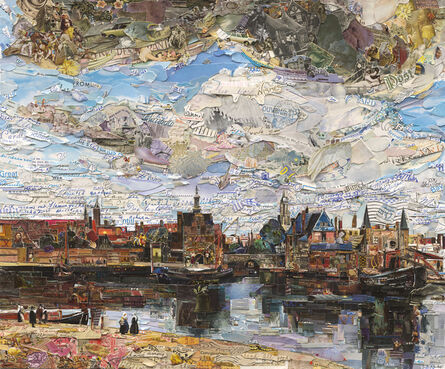 Vik Muniz, 'View of Delft (Postcards from Nowhere)', 2015