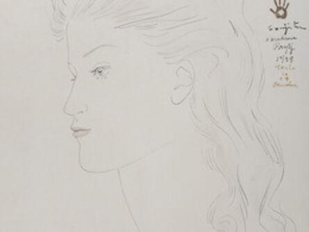 Léonard Tsugouharu Foujita 藤田 嗣治, 'Portrait de femme de profil', 1958