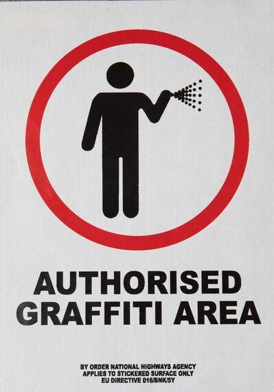Banksy, 'Authorized Graffiti Area', ca. 2004