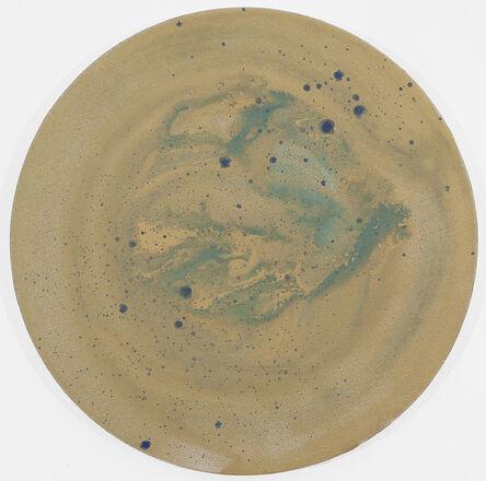 Yadir Quintana, 'Untitled (Tondo Gold and Blue)', 2016