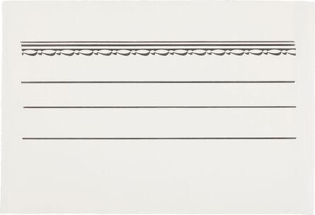 Roy Lichtenstein, 'Entablature #6', 1971