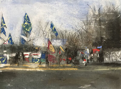 Oona Hassim, 'Leave & Remain ongoing protests in Westminster', 2019