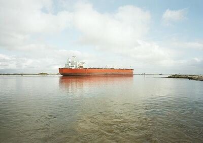 Victoria Sambunaris, 'Untitled (Crude Oil Tanker, Eagle Stealth, Marshall Is.), Houston Ship Channel, Texas', 2016