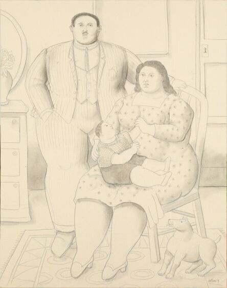 Fernando Botero, 'Family at their home', 2019