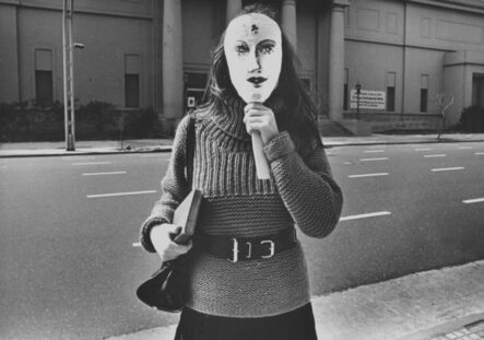 Liliana Maresca, 'Untitled. Liliana Maresca in front the National Museum of Fine Arts, Buenos Aires', 1984