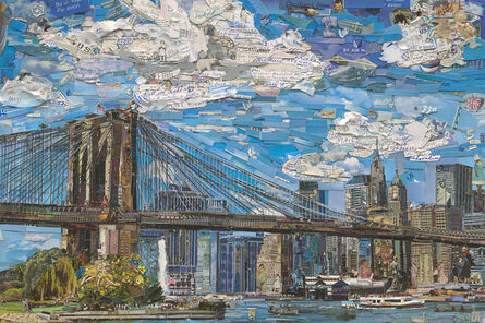 Vik Muniz, 'Brooklyn Bridge (Postcards from Nowhere)', 2015