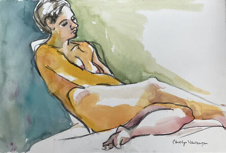 Carolyn Newberger, 'Woman in Green and Blue', 2021