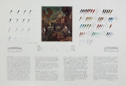 "Osvaldo Romberg, 'Analysis of ""The Tempest"" (Giorgione)', 1976"