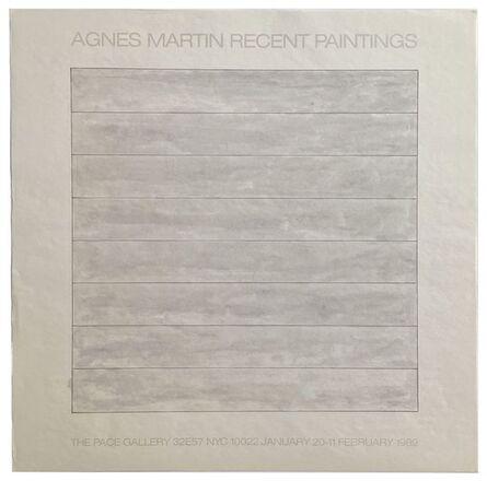 Agnes Martin, 'Agnes Martin Recent Paintings', 1989