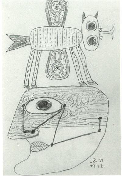 Victor Brauner, 'Animal et tête', 1946