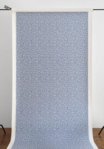 Anni Albers, 'E Wallpaper in deep blue (287U)', 2019