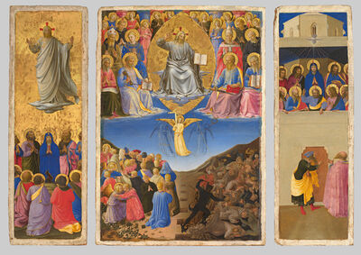 Fra Angelico, 'Corsini Triptych (Ascension, Last Judgment, Petecost) ', about 1447-1448