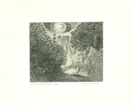 Edward Bawden, 'Lane in Moonlight', 1927-1929
